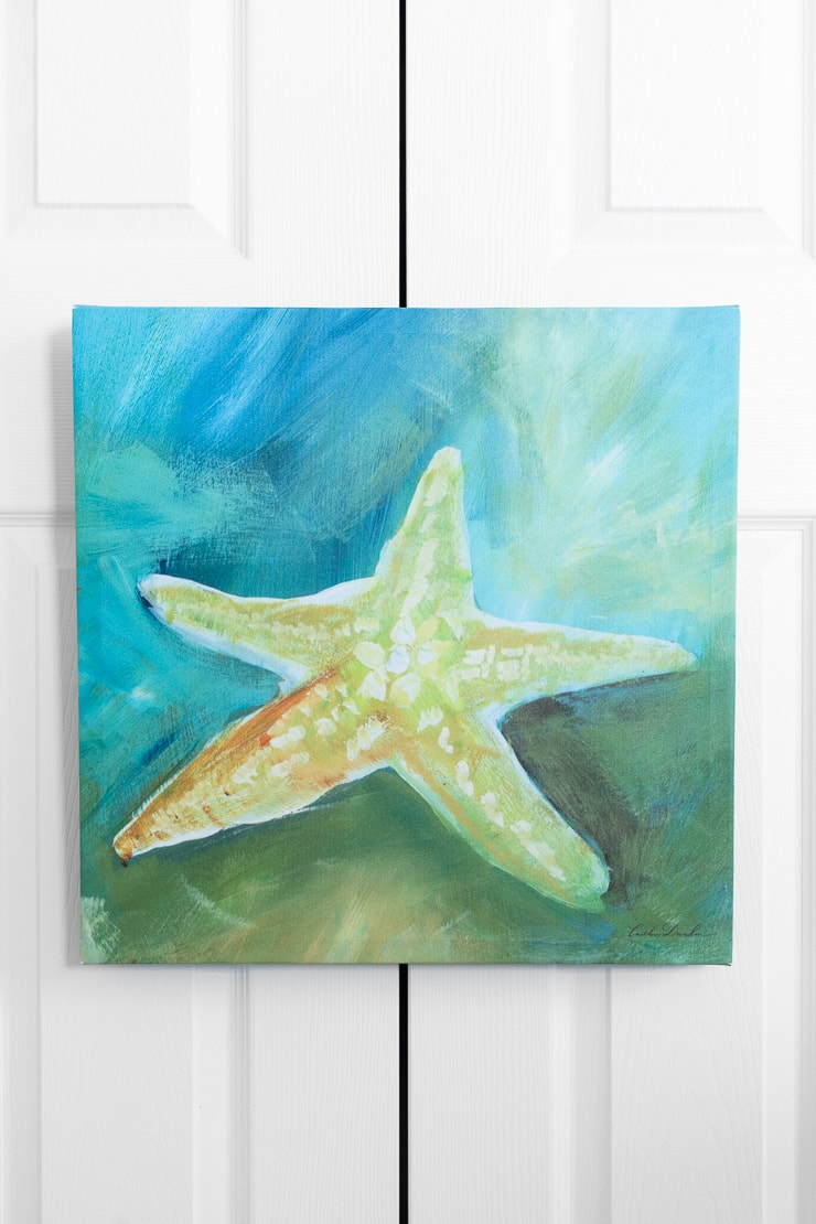 canvas picture of a starfish