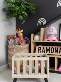 DIY modern babydoll crib