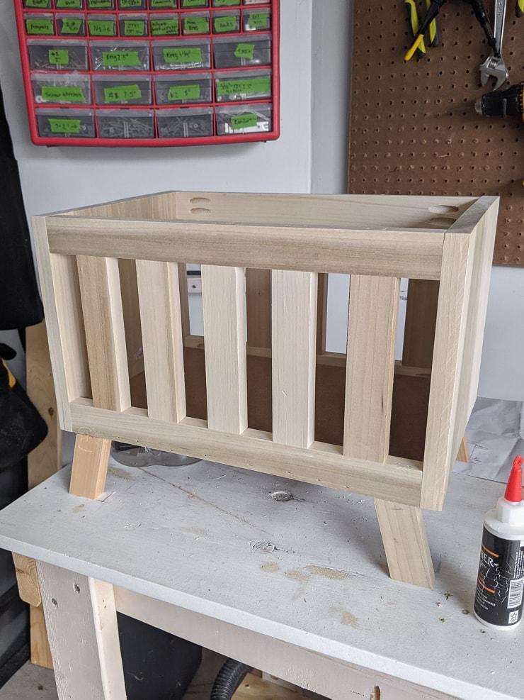 modern DIY babydoll crib