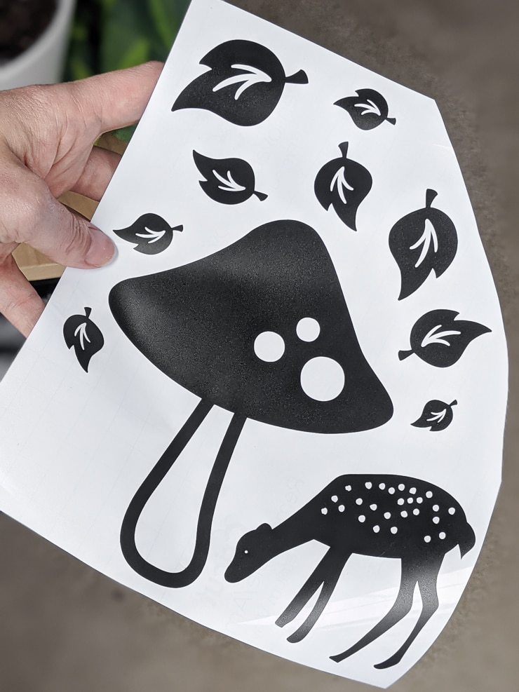 vinyl decals cut out using a Cricut