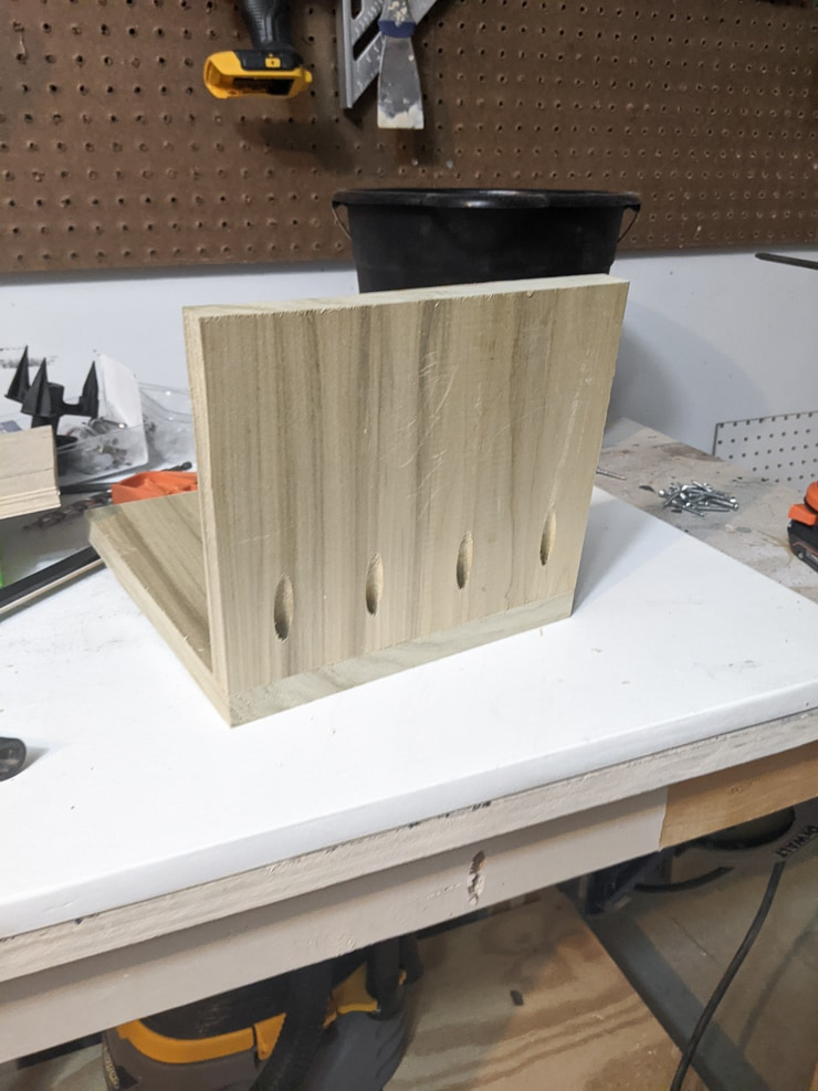 creating the seat for the high chair