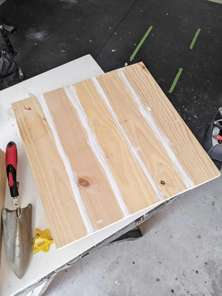 pieces of wood joined together using pocket holes
