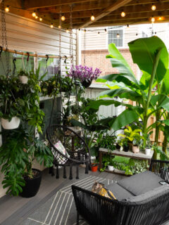 small deck decorating ideas with plants