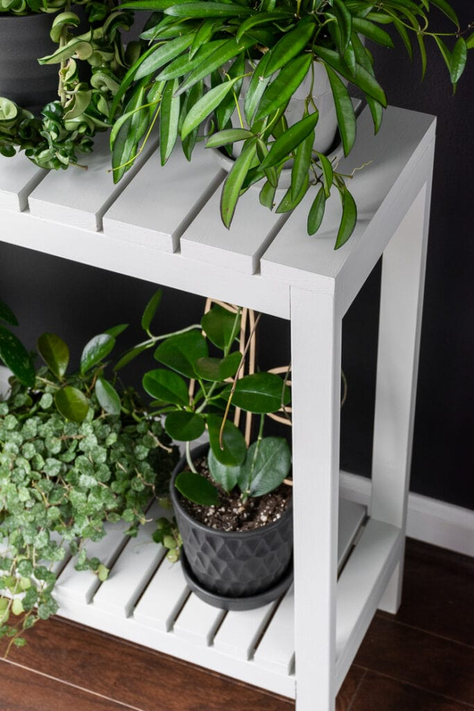 DIY Indoor Plant Stand made from wood