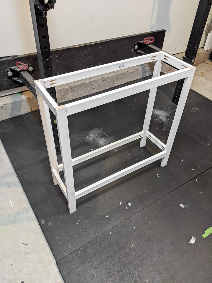 main structure of the DIY tiered plant stand